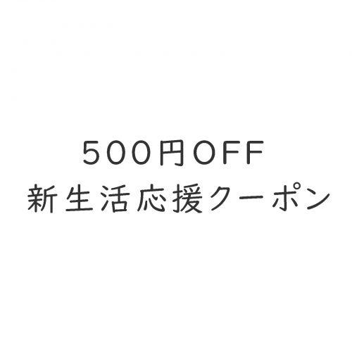 商品合計金額から500円値引きいたします